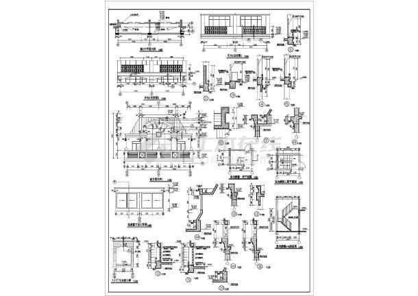 东方塞纳住宅建筑施工图(共8张)-图3