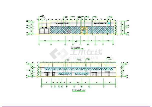 4S店2层钢结构修车库cad施工图-图1