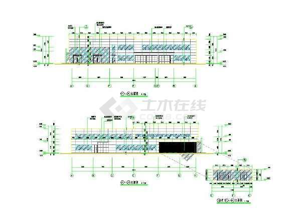 4S店2层钢结构修车库cad施工图-图2