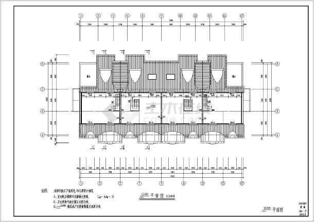 多层坡屋顶的部分建筑施工图纸(共14张)-图2