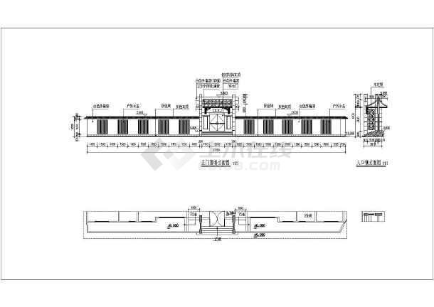 三层中式风格四合院别墅全套建筑cad施工图-图1