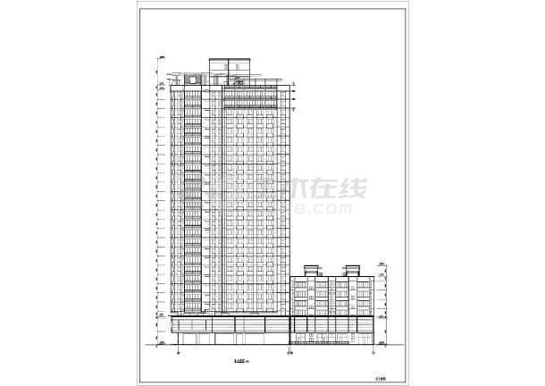 东方神韵高层住宅建筑设计图纸(共13张)-图1