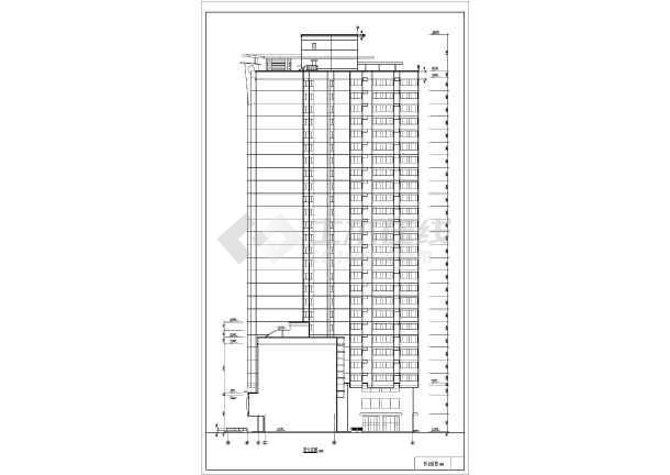 东方神韵高层住宅建筑设计图纸(共13张)-图2