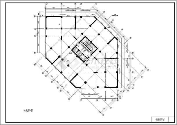 东方神韵高层住宅建筑设计图纸(共13张)-图3