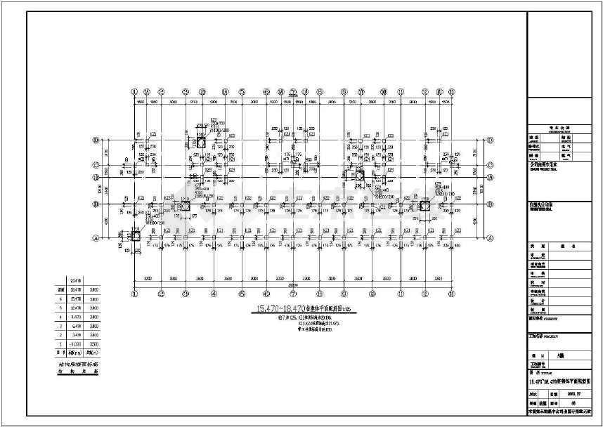 某地六层框架结构住宅楼结构施工图(标注详细)-图3