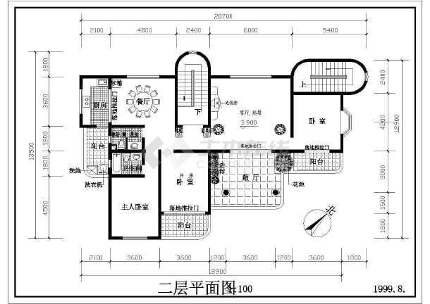 某地区多层住宅建筑设计图(共4张)-图1