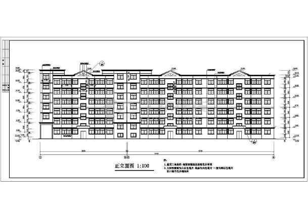 住宅建筑设计cad平立剖面图纸-图1