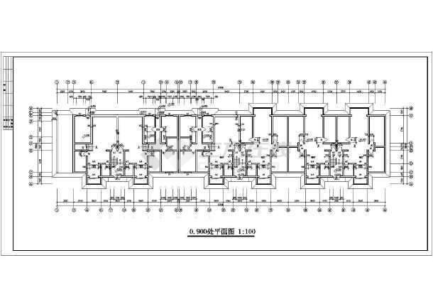 住宅建筑设计cad平立剖面图纸-图2