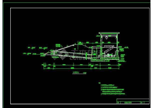 小型农田水利工程离心泵扬水站施工cad图-图2