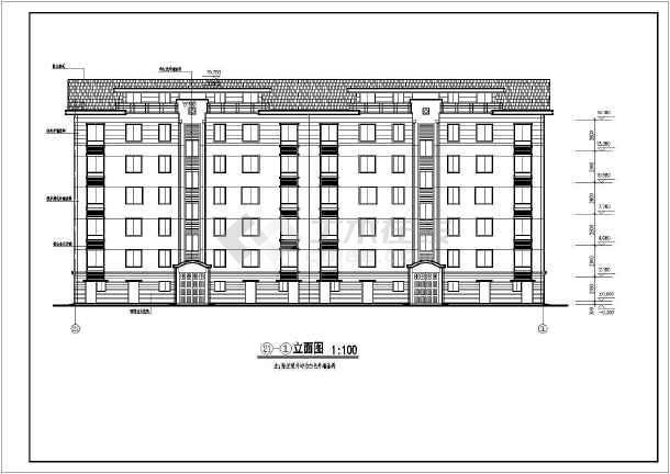 某多层住宅建筑cad图纸(全套)-图1