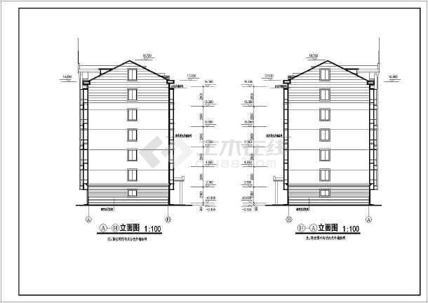 某多层住宅建筑cad图纸(全套)-图2