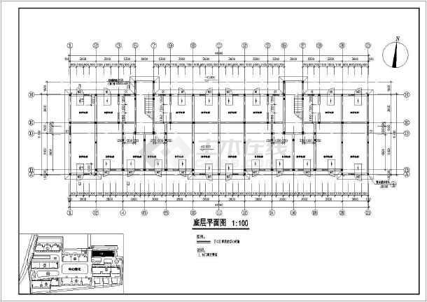 某多层住宅建筑cad图纸(全套)-图3