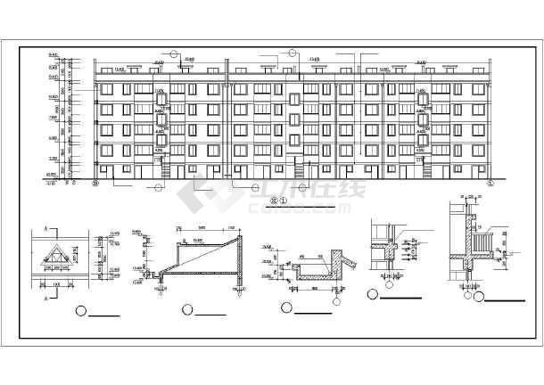 某多层住宅建筑全套施工cad设计图-图1