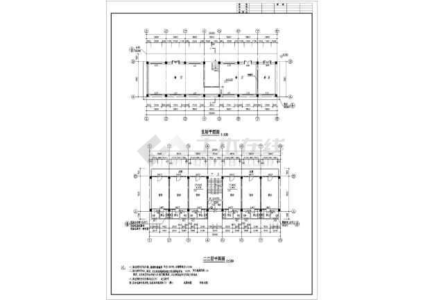 某地多层宿舍楼建筑施工图(共8张)-图3