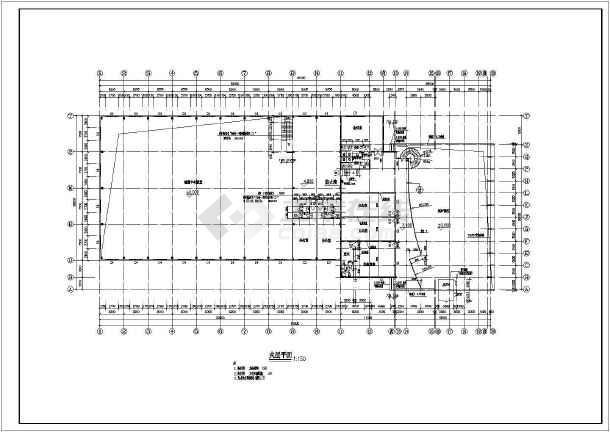 某地奥迪4S店建筑设计图-图1