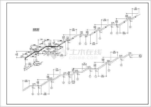 某地5层仿古代景观塔结构设计cad施工图-图1