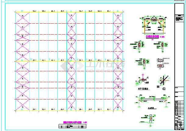 嘉立荷63.8X69米牛舍结构图-图3