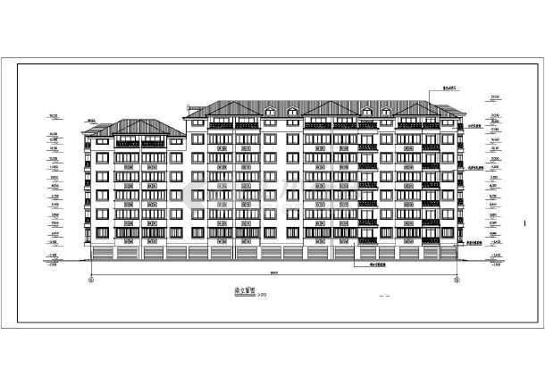 多层住宅建筑施工cad图(全套)-图1