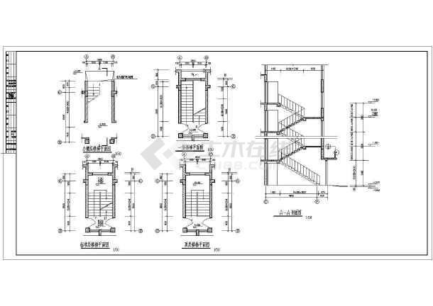 多层住宅建筑施工cad图(全套)-图3