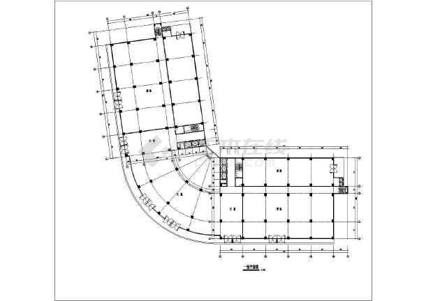 某地小县城酒楼建筑设计方案CAD图-图1