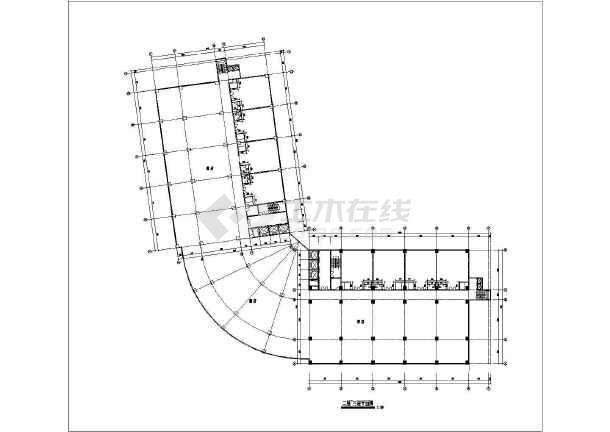 某地小县城酒楼建筑设计方案CAD图-图2