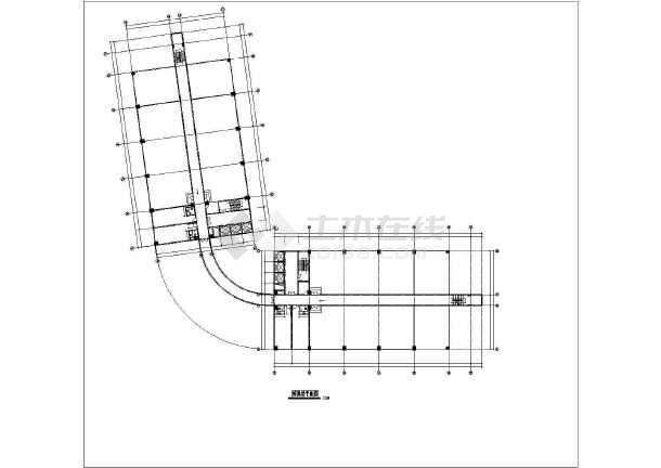 某地小县城酒楼建筑设计方案CAD图-图3