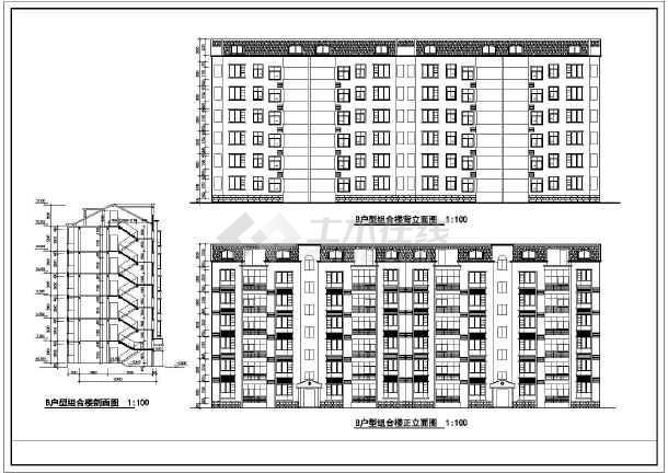 某住宅标准层建筑cad设计施工图-图2