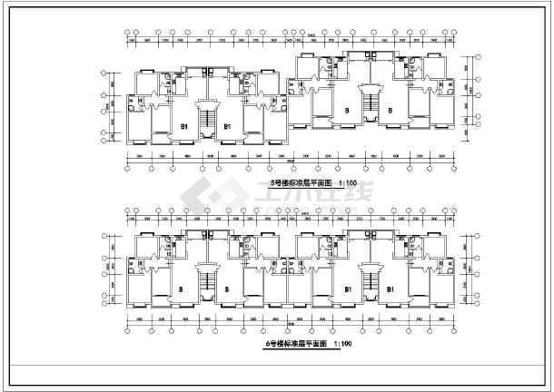 某住宅标准层建筑cad设计施工图-图3