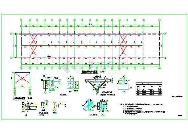 某单层车棚改造,门式钢架结构-图1