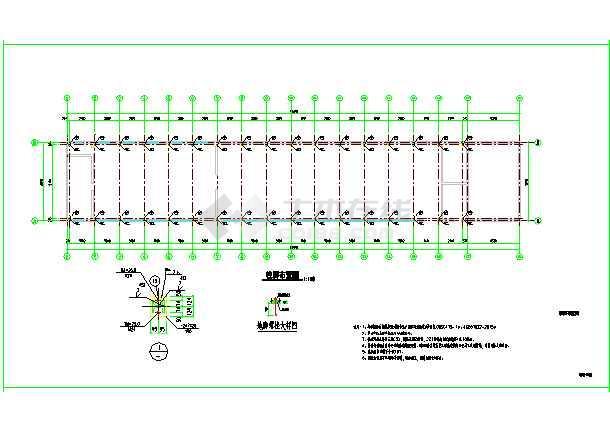 某单层车棚改造,门式钢架结构-图3