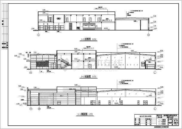 某地福特4S店建筑设计图-图2