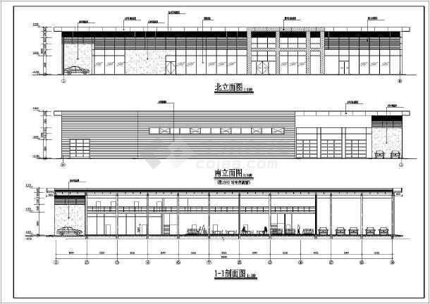 某地宝马4S店建筑设计图-图1