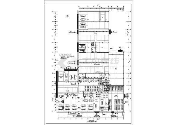 某地宝马4S店建筑设计图-图3