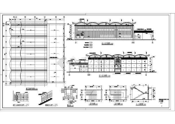 某汽车4S店建筑设计图纸-图2