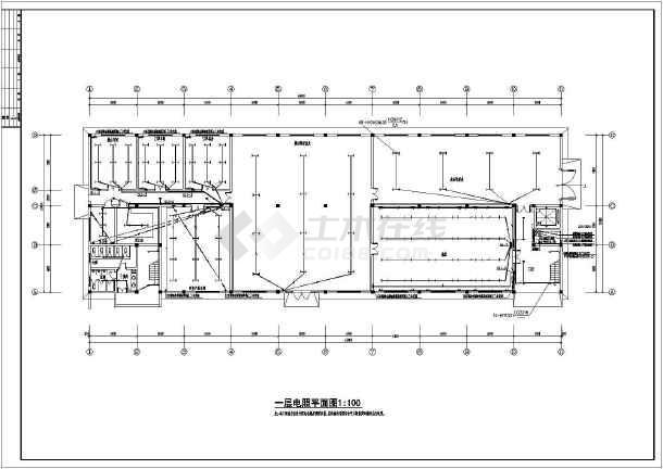 一整套工厂电气cad施工设计图图片