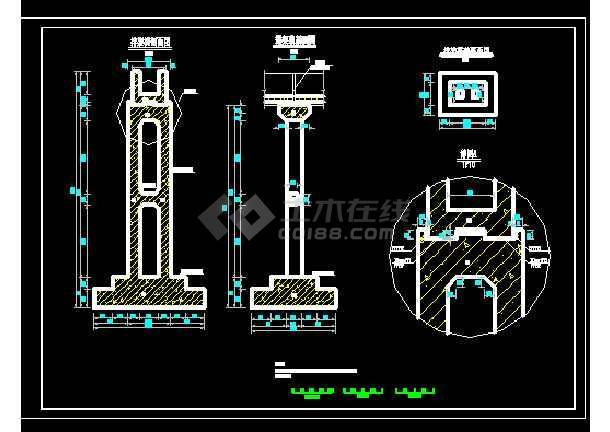 渡槽技术施工图-图1
