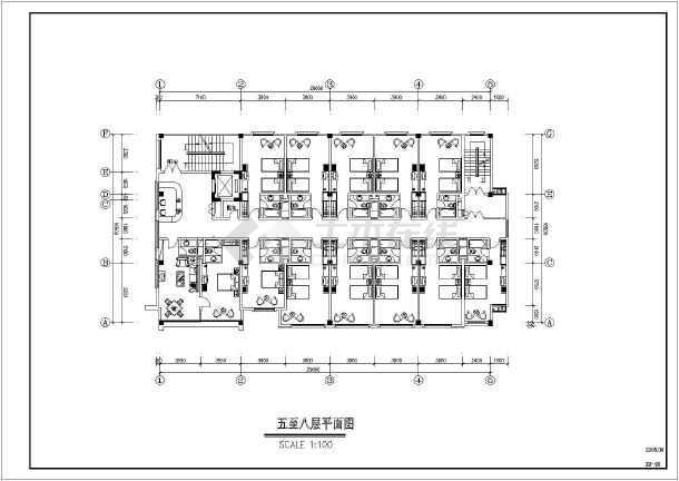 某宾馆酒店宴会厅装饰cad平面施工布置图