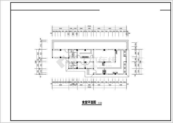 某农村中学建筑设计图cad-图2