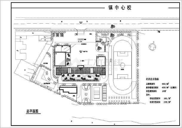 某农村中学建筑设计图cad-图3