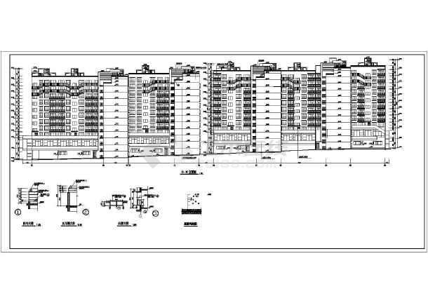某市区小高层住宅楼建筑CAD施工设计图-图1