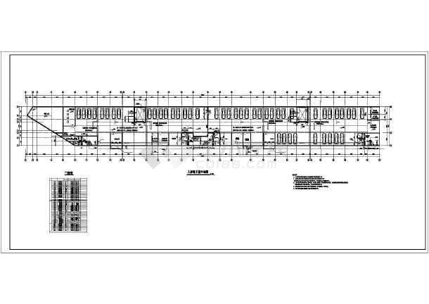 某市区小高层住宅楼建筑CAD施工设计图-图3