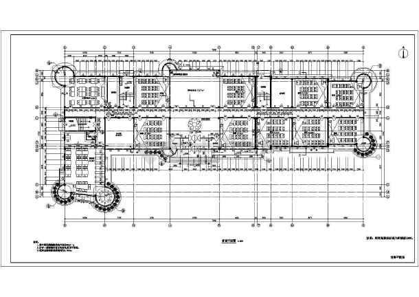 某小学教学楼平面建筑设计图-图1