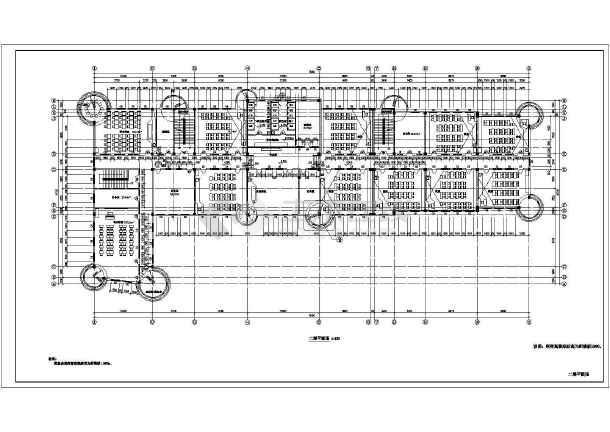 某小学教学楼平面建筑设计图-图2