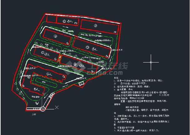 房地产园林绿化苗木平面图-图1
