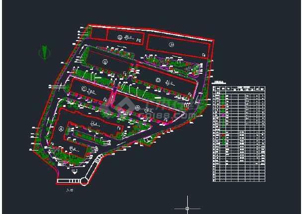 房地产园林绿化苗木平面图-图2