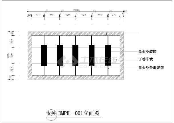 室内设计石材地面拼花小品cad素材图库-图1