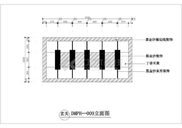 室内设计石材地面拼花小品cad素材图库-图2