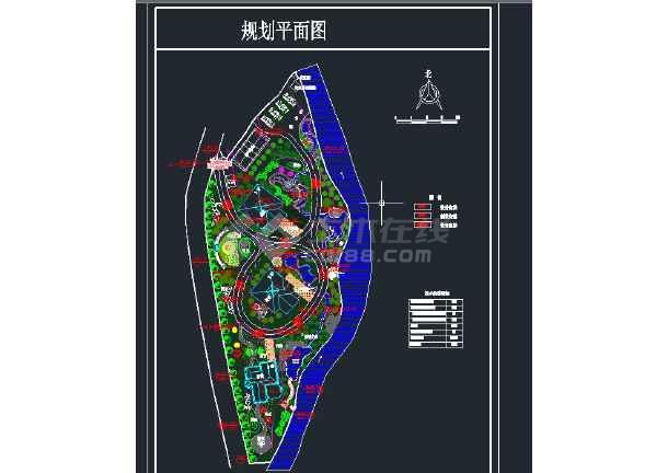 小型别墅规划平面图CAD图纸-图1