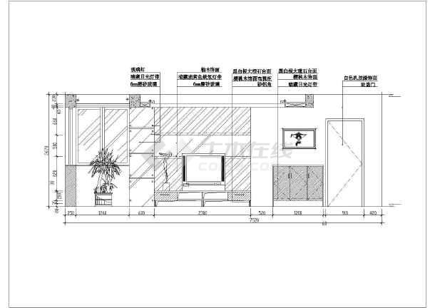近百套室内客厅装修设计cadv客厅图纸大全图纸生活用品ug图片