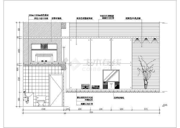 近百套室内图纸装修设计cadv图纸客厅豆小拼熊猫图纸图片